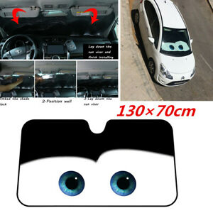 Foldable Car Front Windshield Sun Shade Shield Cover Anti-UV Big Eyes Pattern