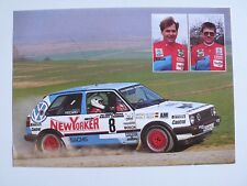 Rallye Fotokarte VW Motorsport Golf II GTI 16V, Beck / Seiter 1990, 15x11 cm