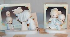 """PRECIOUS MOMENTS E-2841 """"BABY'S FIRST PICTURE"""" E-2840 """"BABY'S FIRST STEP"""" MIB  ~"""