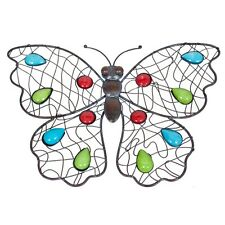 La Hacienda Decorative Butterfly Metal Wall art Home Garden Ornament Gifting