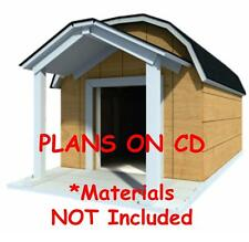 """48"""" x 60"""" Dog House Plans - Gambrel Roof - Pet Size To 150 lbs - Large Dog - 08"""