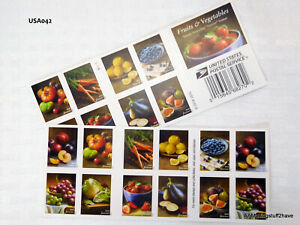 FRUIT & VEGETABLES FOREVER® USPS Stamps Book of 20 NEW