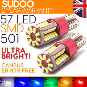 501 57 Led Sidelight Cree Power Xenon White T10 W5w Smd Capless Side light Bulbs