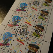 FEUILLE SHEET ANDORRE FRANÇAIS N°419A x10 JEUX OLYMPIQUES BARCELONE NEUF ** MNH