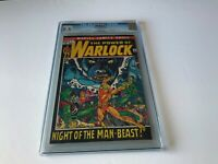 WARLOCK 1 CGC 8.5 WHITE PAGES ORIGIN NIGHT OF MAN-BEAST MARVEL COMICS 1972