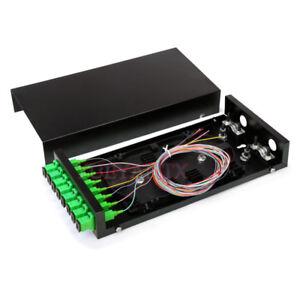 Fiber Optic Terminal box 8 core Desktop Type SC APC with adapter pigtail 8 Ports