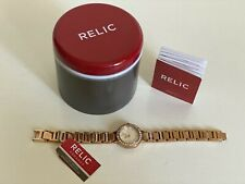 NEW! RELIC KERRI ROSE GOLD CRYSTALS-ACCENT BRACELET WATCH ZR34273 $110 SALE