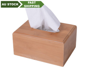 Natural bamboo tissue box holder container bamboo storage choice 天然竹制纸巾盒