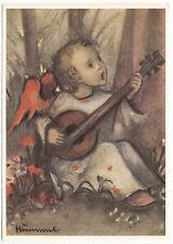 CARTE POSTALE ILLUSTRATEUR HUMMEL N° 14469 ENFANT ANGE GUITARE