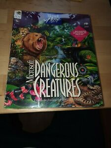 Microsoft WWF Dangerous Creatures 1994 BIG BOX! SEALED Amazing condition encarta