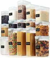 LARGE Set of 30pc Airtight Food Storage Containers (15 Container Set) - $59.99