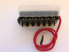ATC/ATO 6-WAY FUSE BLOCK W/ 8 AWG HOT WIRE