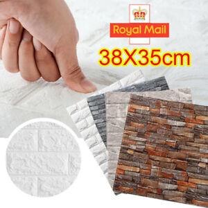10 PCS Tile Brick Wall Sticker Self-adhesive Waterproof 3D Foam Panel Wallpaper