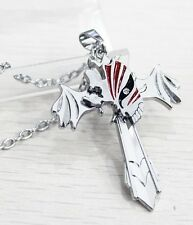 Anime Cosplay Bleach Hollow Marks Silver Cross Wing Pendant Necklace