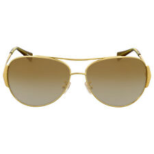 Coach Milky Olive Gold Aviator Sunglasses
