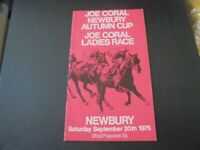 NEWBURY RACE CARD - 20TH SEPTEMBER,1975 - THE MILL REEF STAKES & ROYAL BOY