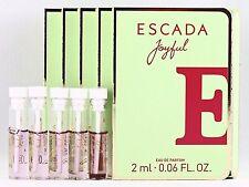 ESCADA JOYFUL EDP 2.0ml .06fl oz x 5 PERFUME SAMPLE VIAL MINI LOT