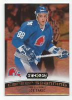 2017-18 UD Synergy Career Spanning #CS9 Joe Sakic Quebec Nordiques