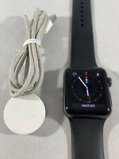 Apple Watch Series 3 38mm Gps Only Space Gray Smart Watch W/Black Band 1783