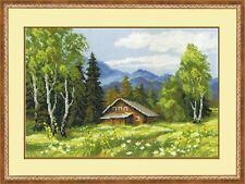 RIOLIS  1051  Chalet Suisse  Broderie  Point de croix compté