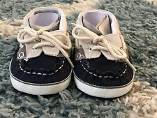 Baby Boys Soft Sole Loafer Shoes*Navy Blue&Beige*Size 3*NEW