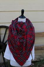 Red Stewart Tartan Plaid Blanket Scarf Red  Plaid Zara Inspired