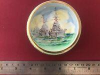 BATTLESHIP MEMORABILIA HMS WW2 PIN TRAY SUPER NICE DREADNOUGHTS FREE POST AUST