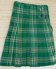 Scottish Active Men Traditional Prime Irish Tartan Kilt Free Shamrock Kilt Pin