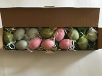 STYROFOAM DECORATED EASTER EGGS WITH RIBBON FOR HANGING