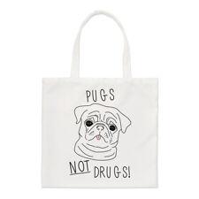 Pugs Non Farmaci Small Tote Bag-Dog Puppy FUNNY shopper spalla