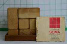 Vintage Soma Wood Cube Puzzle Game Invented by Piet Hein of Denmark for Parker B