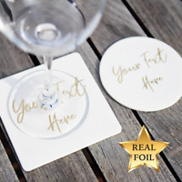 Real Foil Custom Coasters,Personalised Bachelorette Party Favor, Wedding Gift