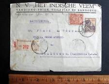 INDONESIA REGISTERED CVR TANDJONG PRIOK 1932 VIA HONG KONG TO HOLLYWOOD USA