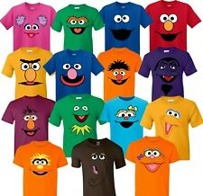 Sesame Street Characters faces Birthday Halloween Christmas family T-Shirts