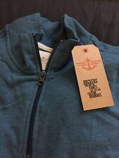 Men's Light Blue Dockers Quarter Zip Sweater Sz XL