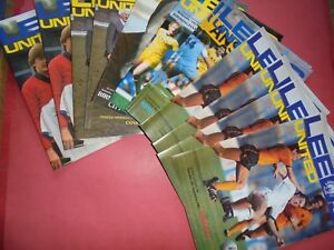 1981/82 LEEDS HOME PROGRAMMES CHOOSE FROM