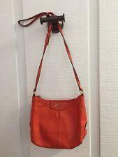 COACH Ashley Orange Leather Small Crossbody Swingpack EUC