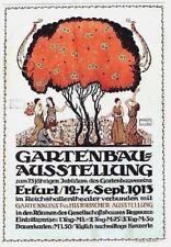 Original vintage poster GARDEN CULTURE EXPO ERFURT 1913