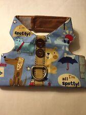 Baby Blue Doggie Print Pet/Dog handmade Vest Harness - XS (83)