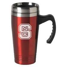 North Carolina State Wolfpack Engraved 16oz Stainless Steel Travel Mug - Red