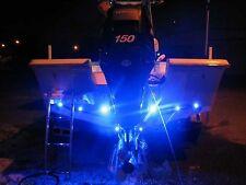 4x Blue LED Boat Light Waterproof Transom Underwater Seadoo RXT-X