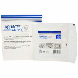 "Aquacel Extra Ag 15 x 15cm (6 x 6"") wound dressing x5"