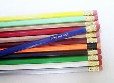 96 Hexagon Assorted Personized Pencils in 35+ different colors