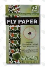 12 ROLLS Fly Paper Garden Glue Catcher Moth Fruit Fly Australian Stock