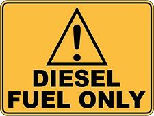Caution Diesel Fuel Only 5 Sticker Sign Decal Set For Public Safety WH&S OHS WHS