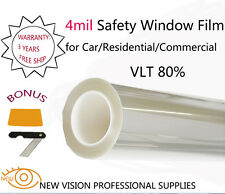 NEW VISION 4Mil VLT80% Security and Safety Window Films 76cmX3m High Quality