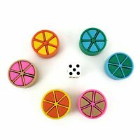 Trivial Pursuit Replacement Parts Tokens Scoring Wedges Pieces Pie Movers Set