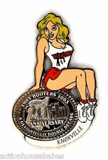 HOOTERS RESTAURANT 20th ANNIVERSARY GIRL KNOXVILLE LAPEL BADGE PIN