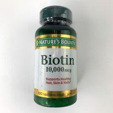 Nature's Bounty Biotin 10,000 mcg, Rapid Release Softgels 120 Count