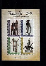 Papua Nuova Guinea 2013 MNH PIONEER Arte sculture da gigmai KUNDUN 4V M / S ARTE
